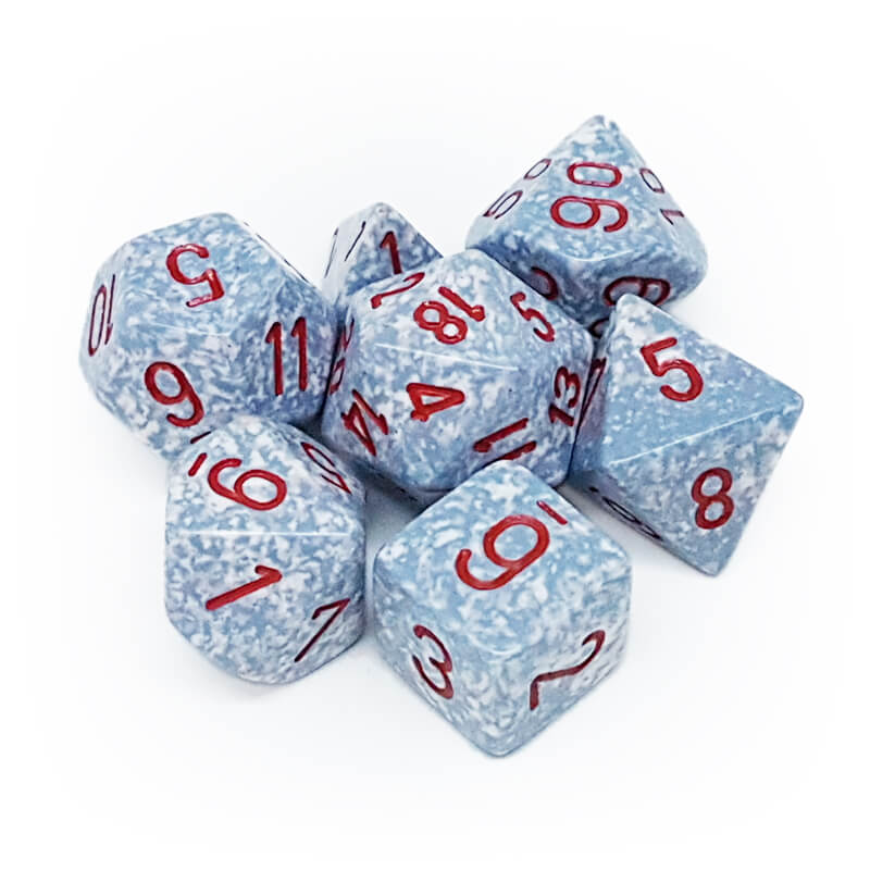 7 Dice Set - Chessex 25300 Speckled Air - Imaginary Adventures