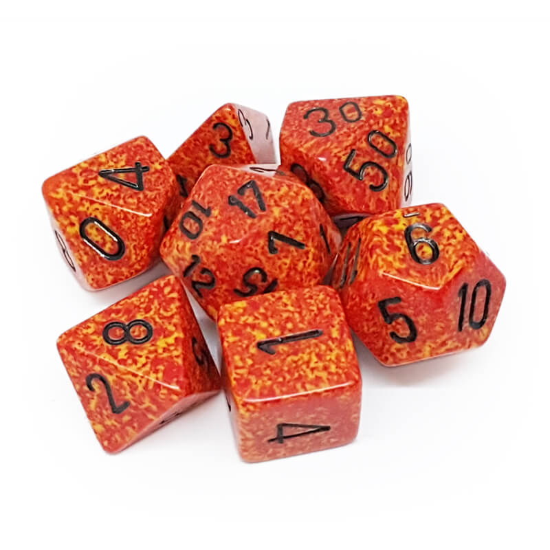 7 Dice Set - Chessex 25303 Speckled Fire - Imaginary Adventures