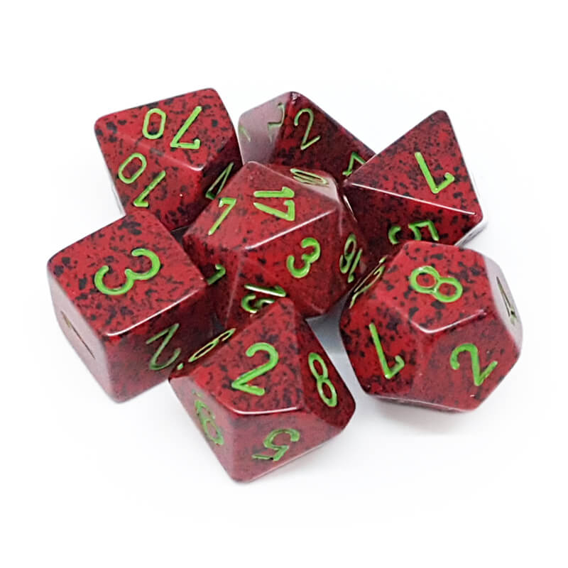 7 Dice Set - Chessex 25304 Speckled Strawberry - Imaginary Adventures