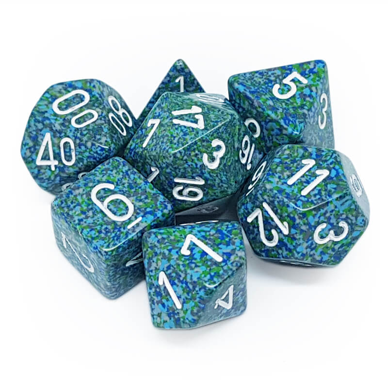 7 Dice Set - Chessex 25316 Speckled Sea - Imaginary Adventures