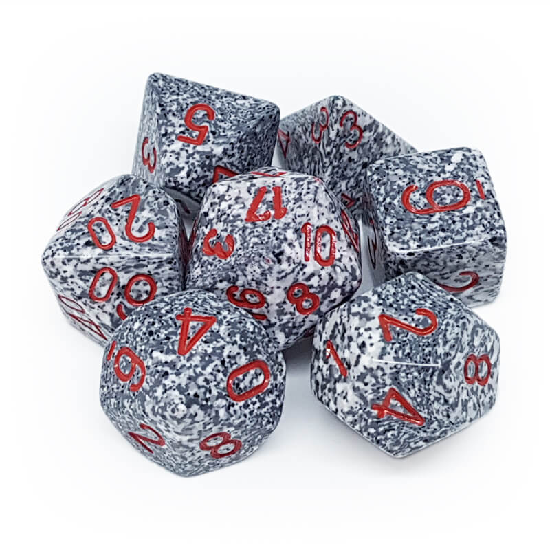 Chessex 25320 Speckled Granite Dice Set - Imaginary Adventures