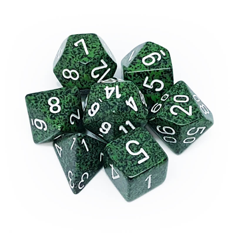 7 Dice Set - Chessex 25325 Speckled Recon - Imaginary Adventures