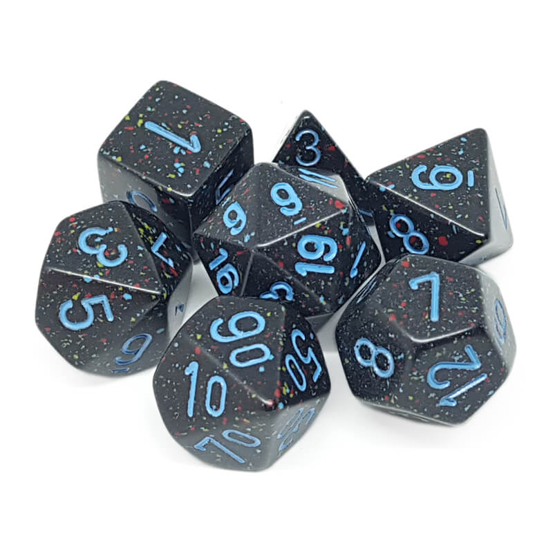 7 Dice Set - Chessex 25338 Speckled Blue Stars - Imaginary Adventures