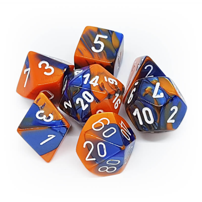 Chessex 26452 Gemini Blue-Orange/White Dice Set - Imaginary Adventures