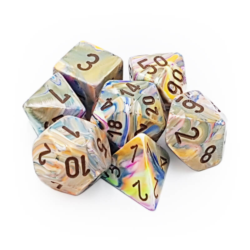 Chessex 27441 Festive Vibrant/Brown Dice Set - Imaginary Adventures