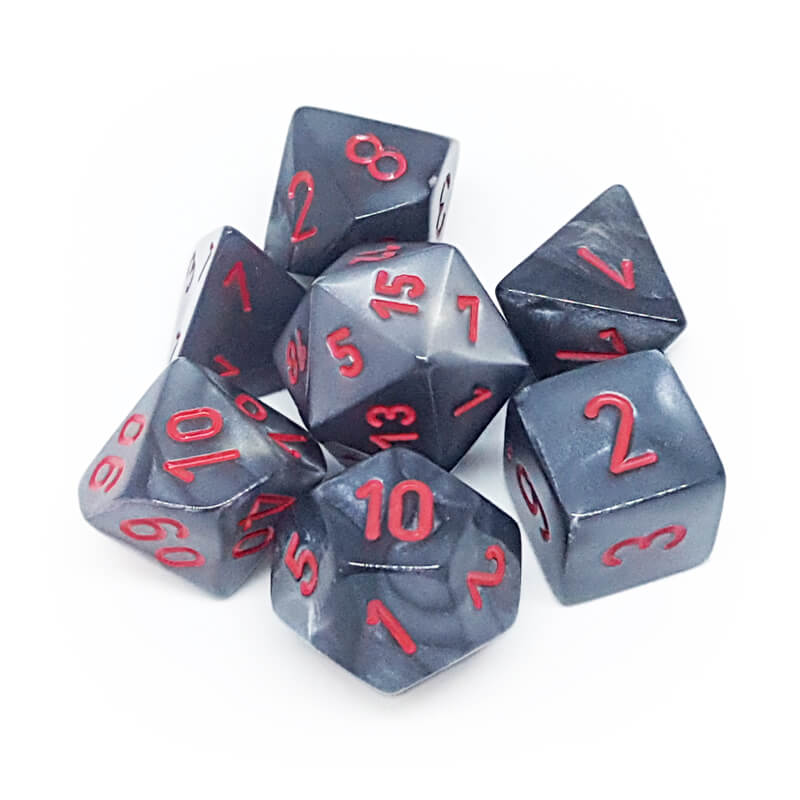 Chessex 27478 Velvet Black/Red Dice Set - Imaginary Adventures