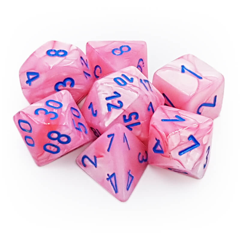 Chessex Lab Dice 30003 Lustrous Pink/Blue Dice Set - Imaginary Adventures