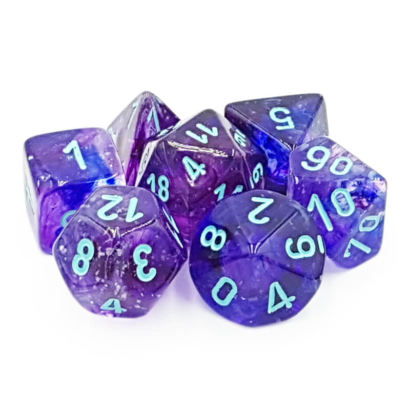 Chessex Lab Dice 30013 Nocturnal/Blue Dice Set - Imaginary Adventures