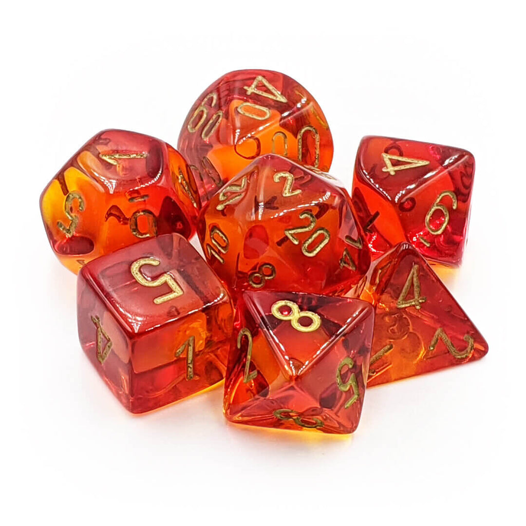 Chessex 30024 Gemini Red Yellow/Gold Dice Set - PREORDER