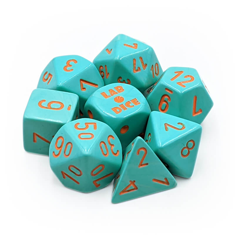 Chessex 30039 Heavy Turquoise/Orange Dice Set