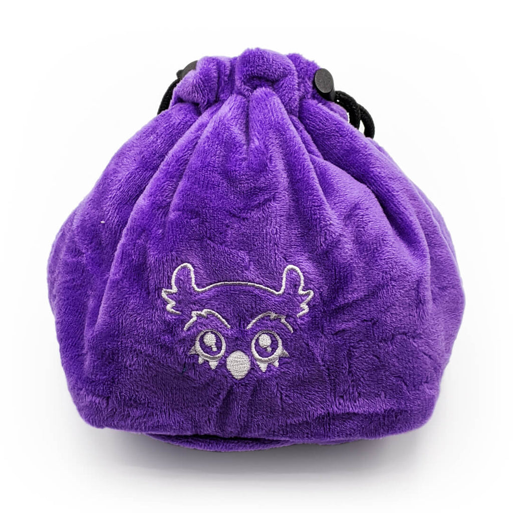Purple Owlbear Cute Creature Dice Bag - Imaginary Adventures