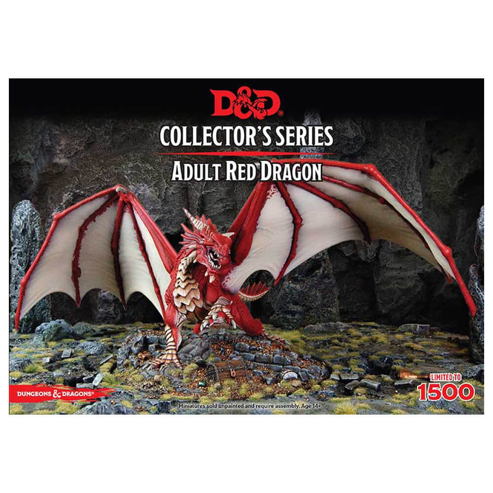 D&D Unpainted Collector's Series Minis Adult Red Dragon - Imaginary Adventures
