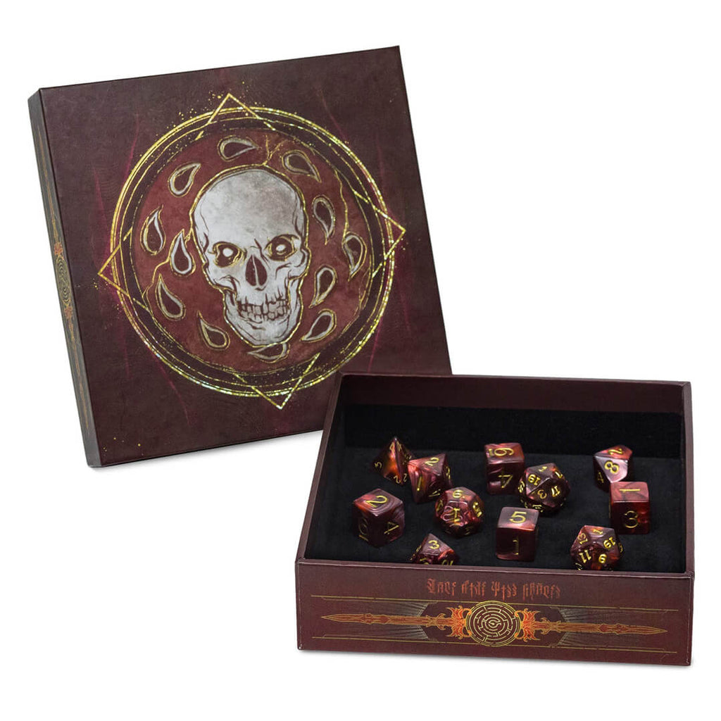 D&D Baldur's Gate Descent into Avernus Dice Set - Imaginary Adventures