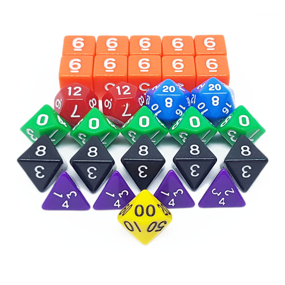 Dungeons & Dragons Gamer's 29 Dice Set - Imaginary Adventures