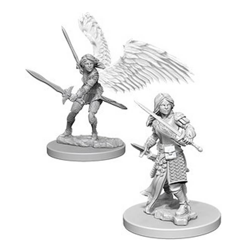 D&D Minis - Aasimar Female Paladin - Imaginary Adventures