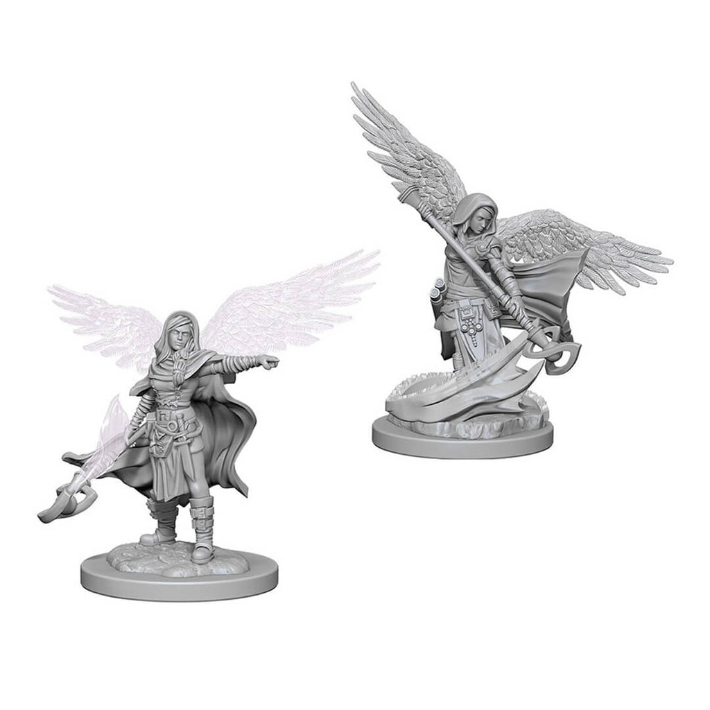 D&D Minis - Aasimar Female Wizard - Imaginary Adventures