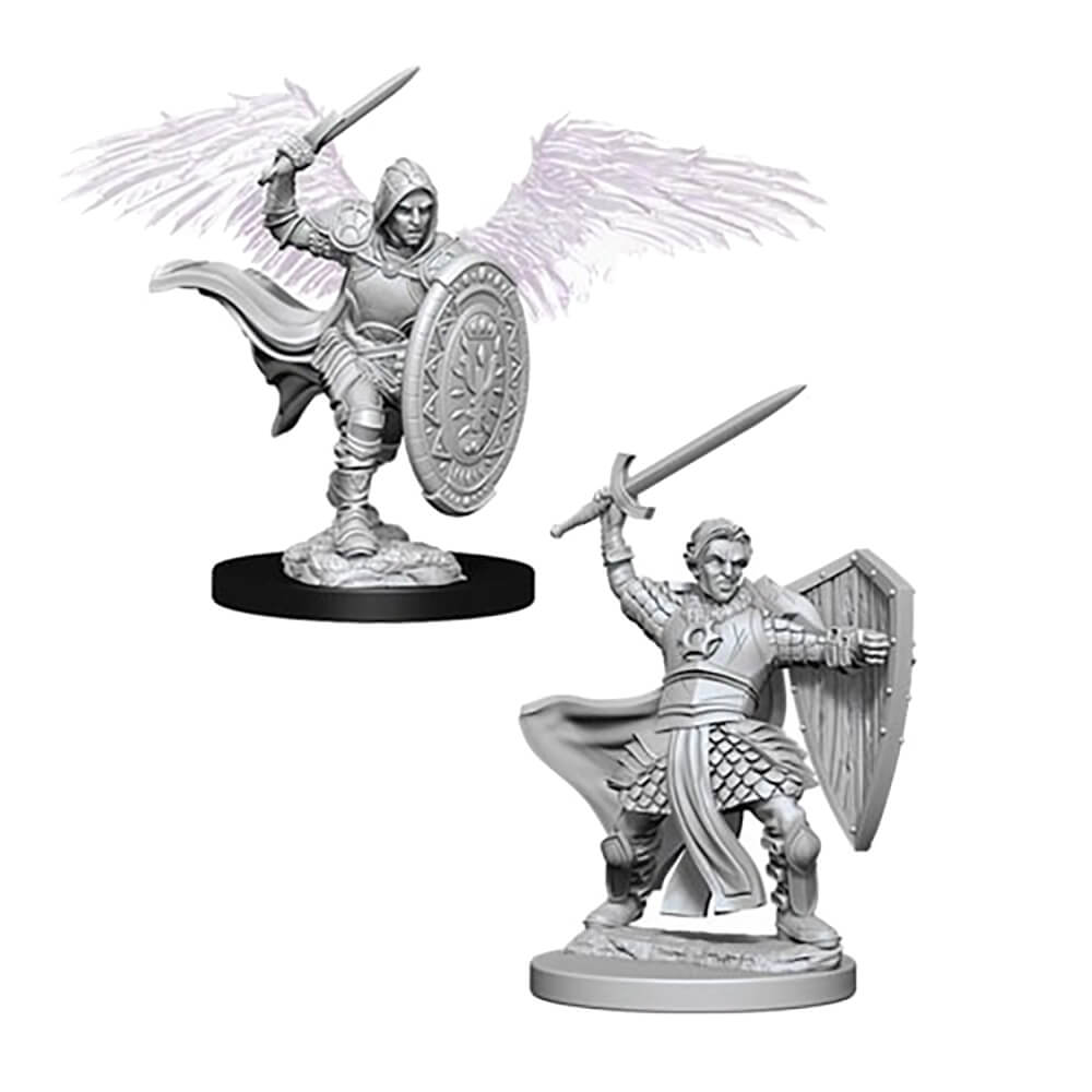 D&D Minis - Aasimar Male Paladin - Imaginary Adventures