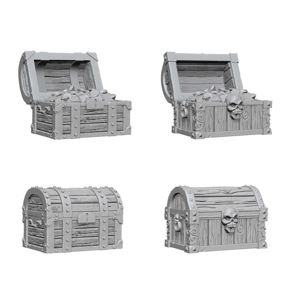 WizKids Deep Cuts Unpainted Minis - Chests
