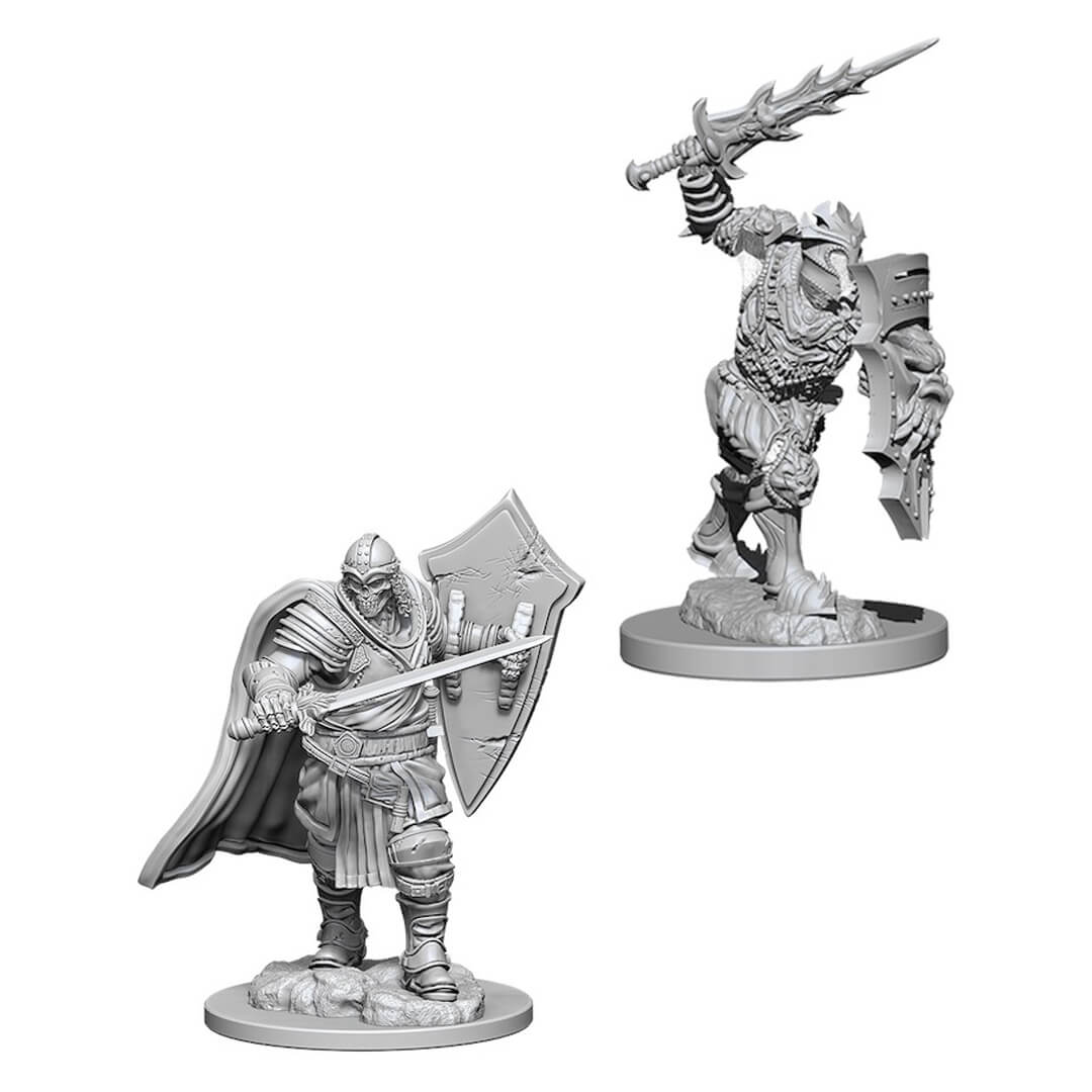 Nolzur's Marvelous Unpainted Minis - Death Knight & Helmed Horror - Imaginary Adventures