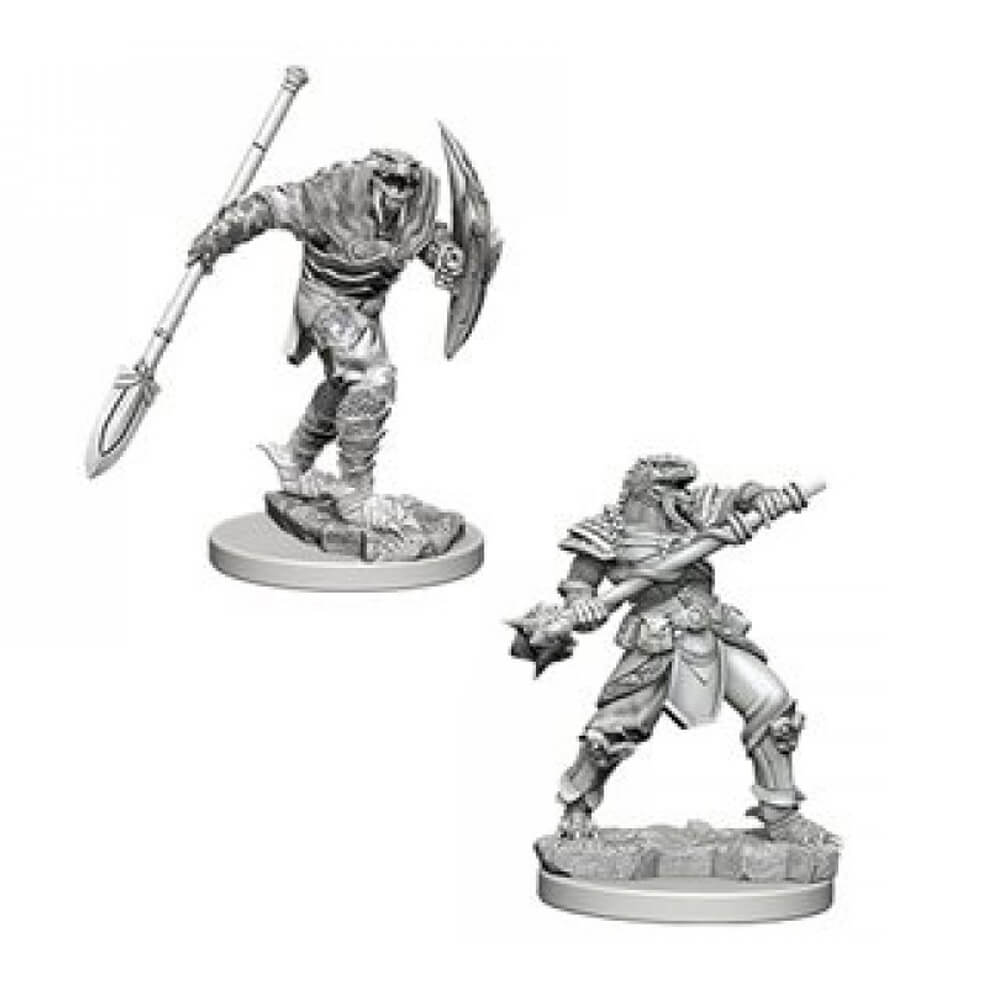 D&D Minis - Dragonborn Male Fighter with Spear - Imaginary Adventures