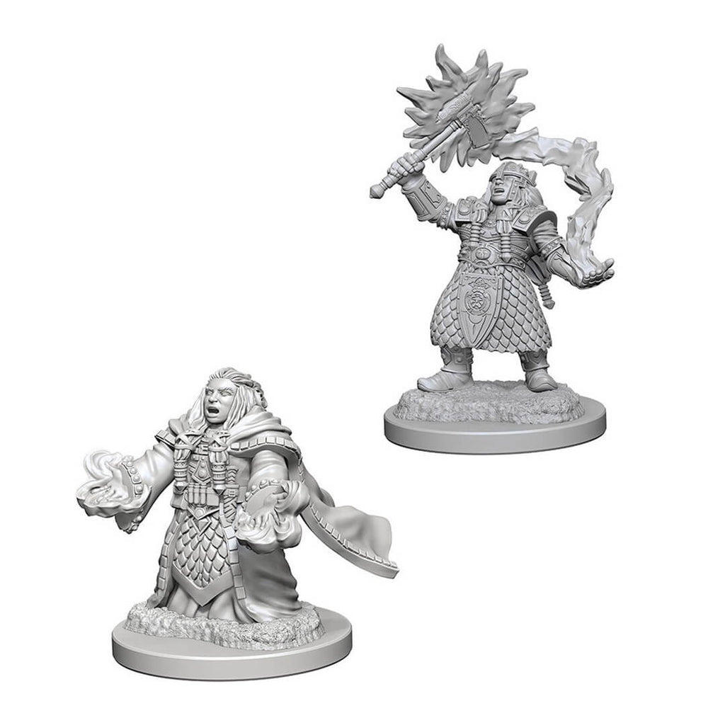 D&D Minis - Dwarf Female Cleric - Imaginary Adventures