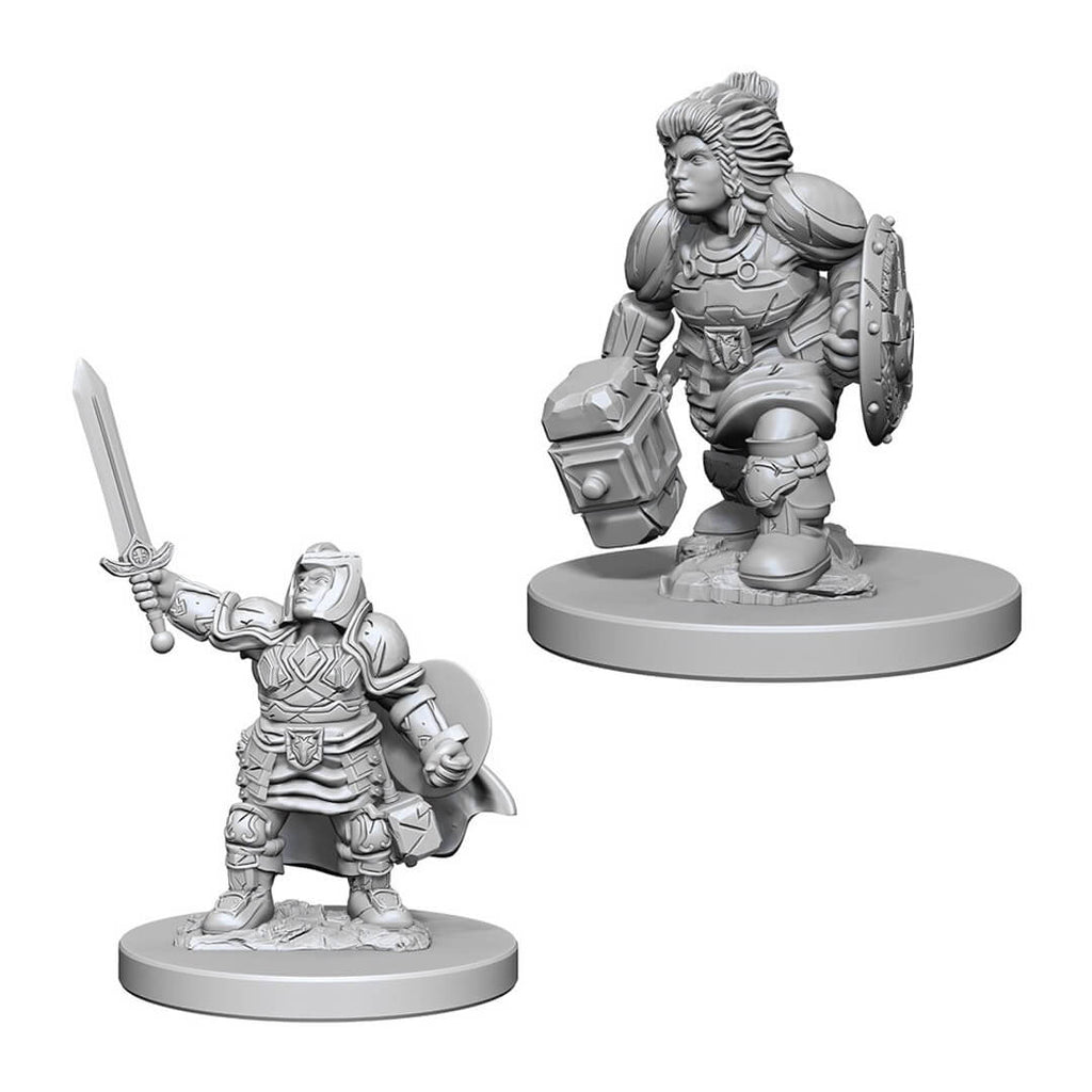 Nolzur's Marvelous Unpainted Minis - Dwarf Female Paladin - Imaginary Adventures