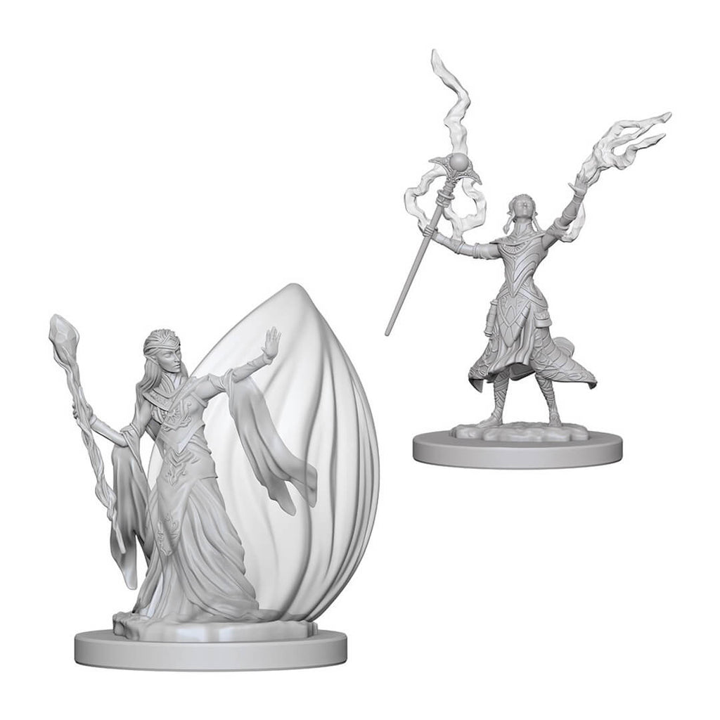 D&D Minis - Elf Female Wizard - Imaginary Adventures