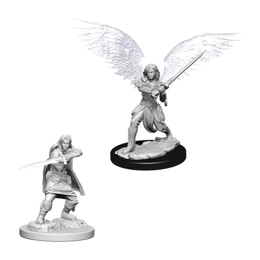 Nolzur's Marvelous Unpainted Minis - Female Aasimar Fighter - Imaginary Adventures