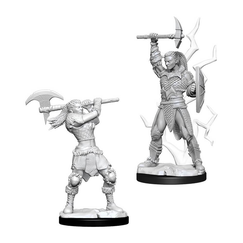 D&D Minis - Female Goliath Barbarian - Imaginary Adventures
