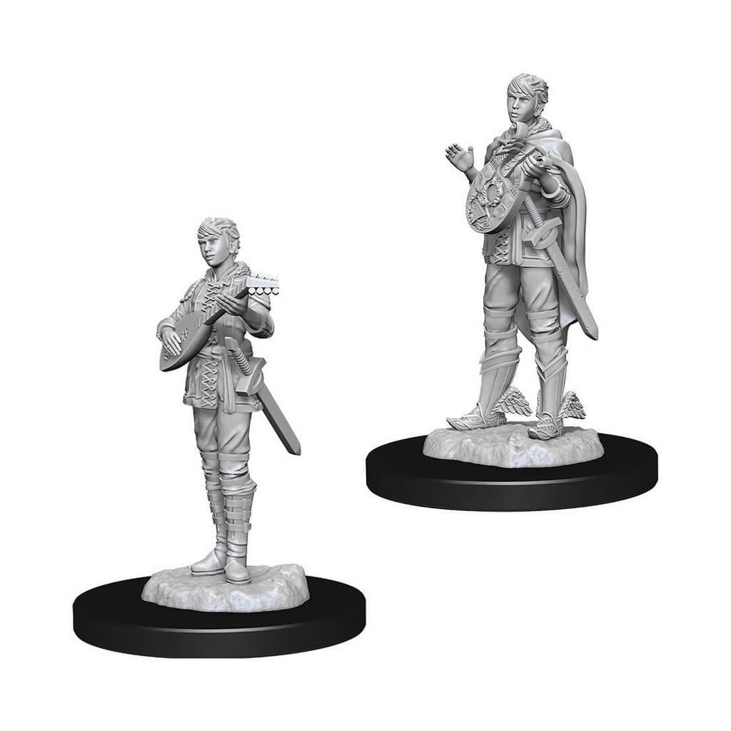 Nolzur's Marvelous Unpainted Minis - Female Half Elf Bard - Imaginary Adventures