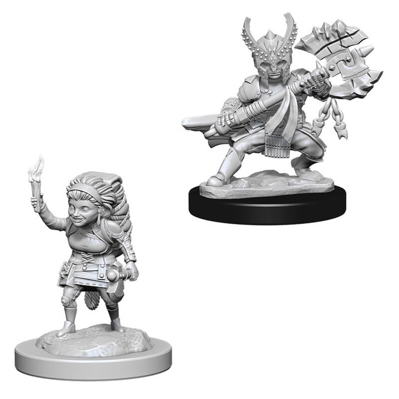 Nolzur's Marvelous Unpainted Minis - Female Halfling Fighter - Imaginary Adventures