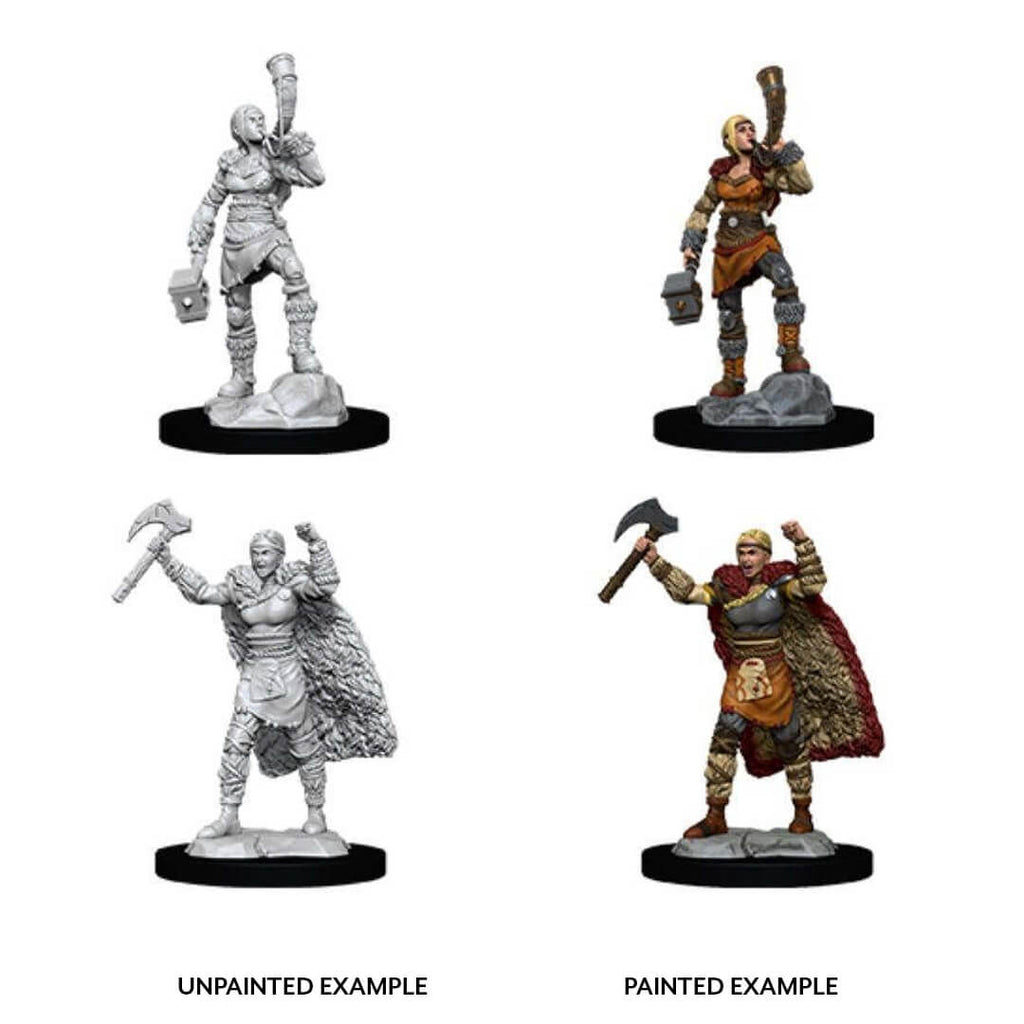 D&D Minis - Female Human Barbarian with Horn