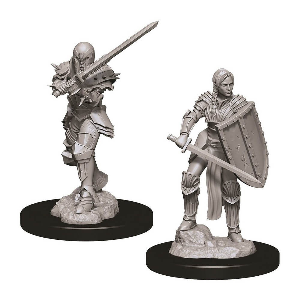 D&D Minis - Female Human Fighter - Imaginary Adventures