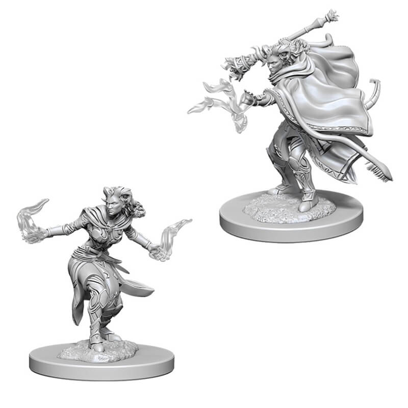 Nolzur's Marvelous Unpainted Minis - Female Tiefling Warlock - Imaginary Adventures