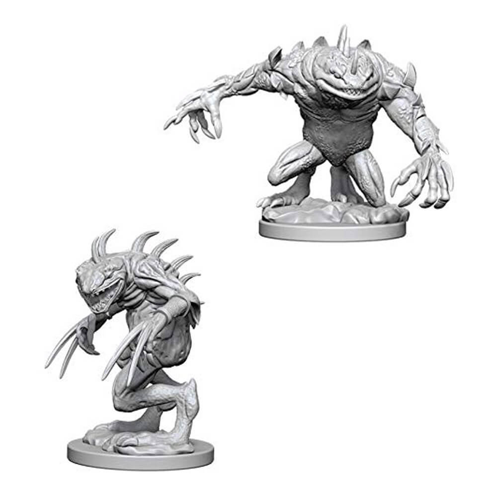 Nolzur's Marvelous Unpainted Minis: Grey Slaad & Death Slaad - Imaginary Adventures