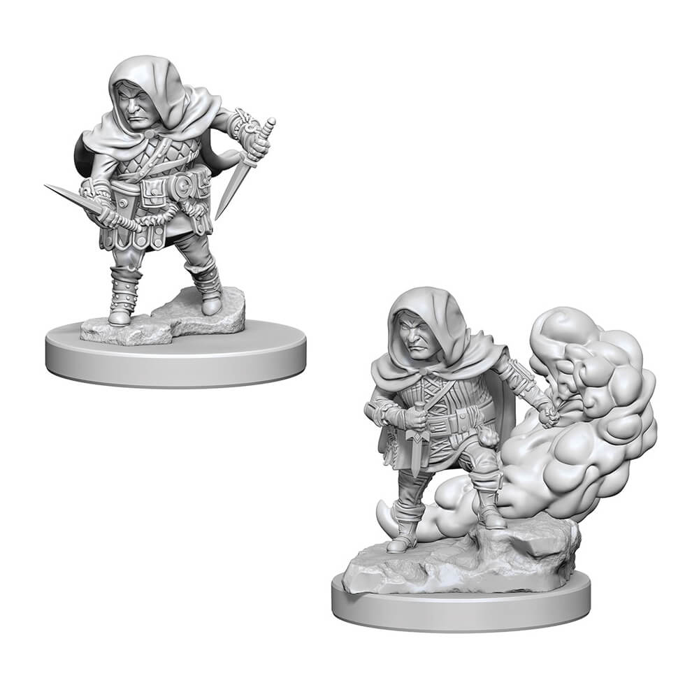 D&D Minis - Halfling Male Rogue - Imaginary Adventures