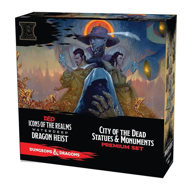 D&D Icons of the Realms Waterdeep Dragon Heist City of The Dead Premium Set - Imaginary Adventures