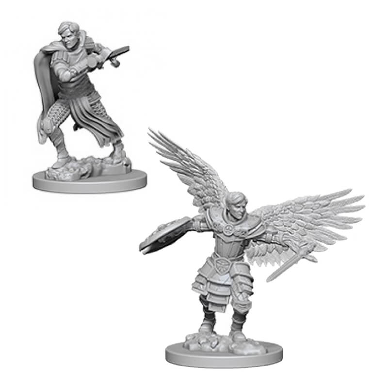 Nolzur's Marvelous Unpainted Minis - Male Aasimar Fighter - Imaginary Adventures