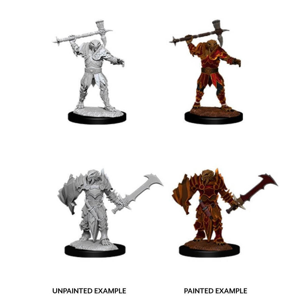 D&D Minis - Male Dragonborn Paladin with Warhammer