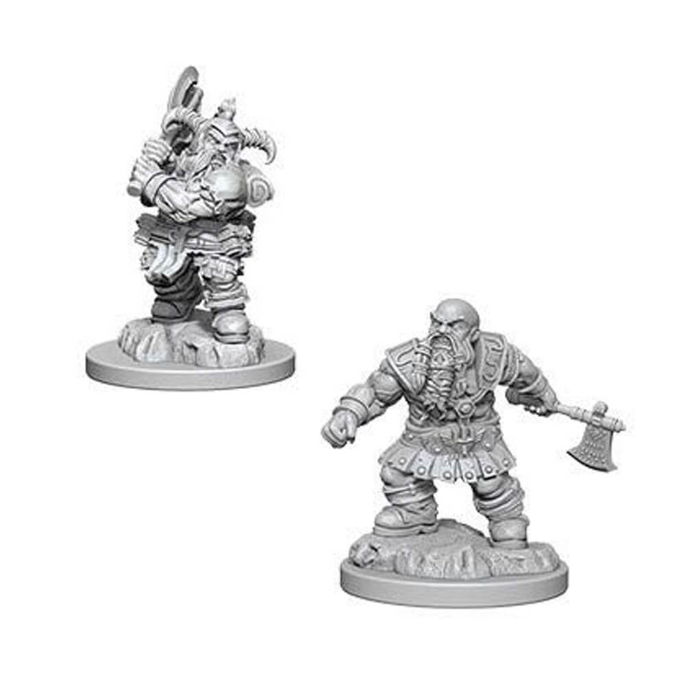 Nolzur's Marvelous Unpainted Minis - Male Dwarf Barbarian - Imaginary Adventures