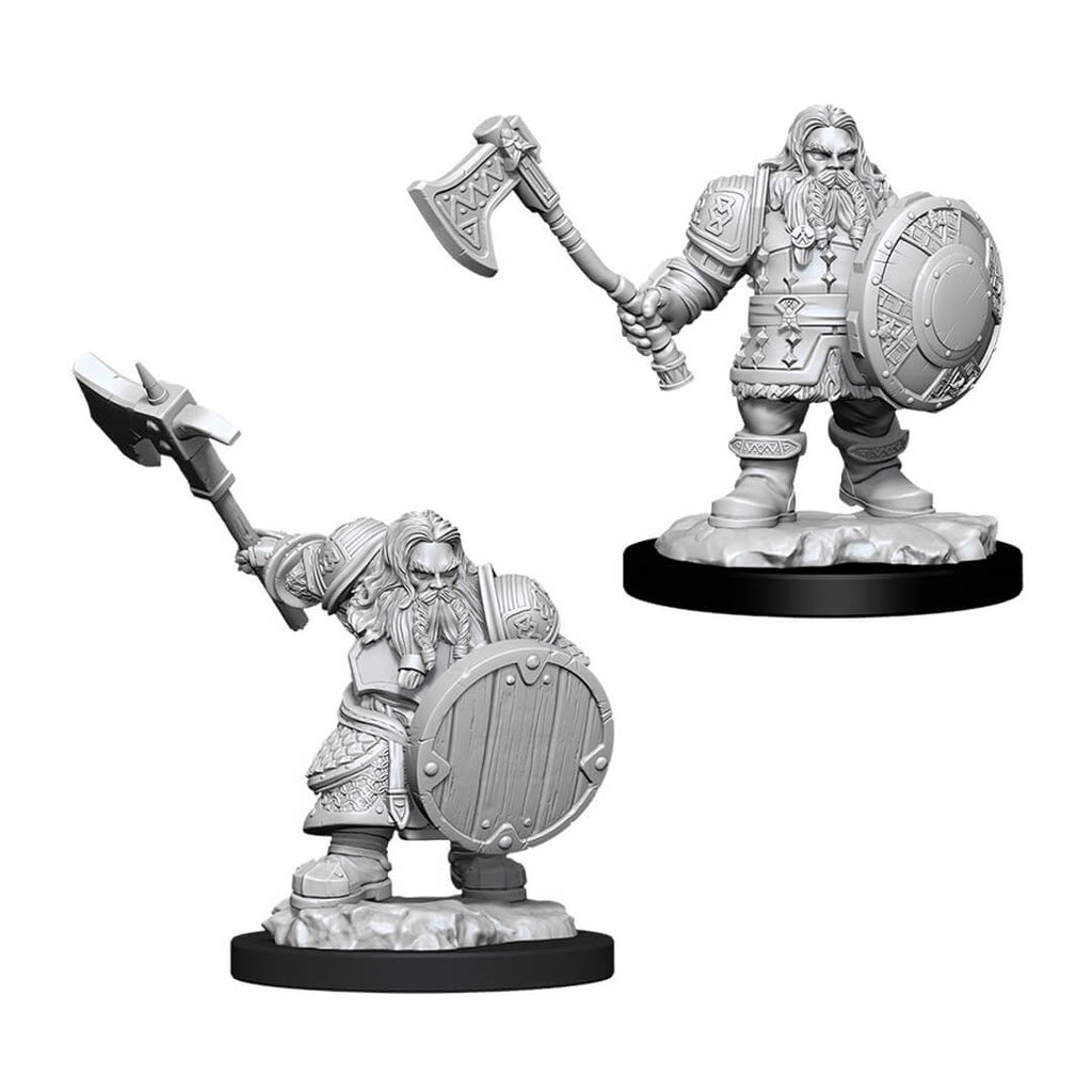 D&D Minis - Male Dwarf Fighter - Imaginary Adventures
