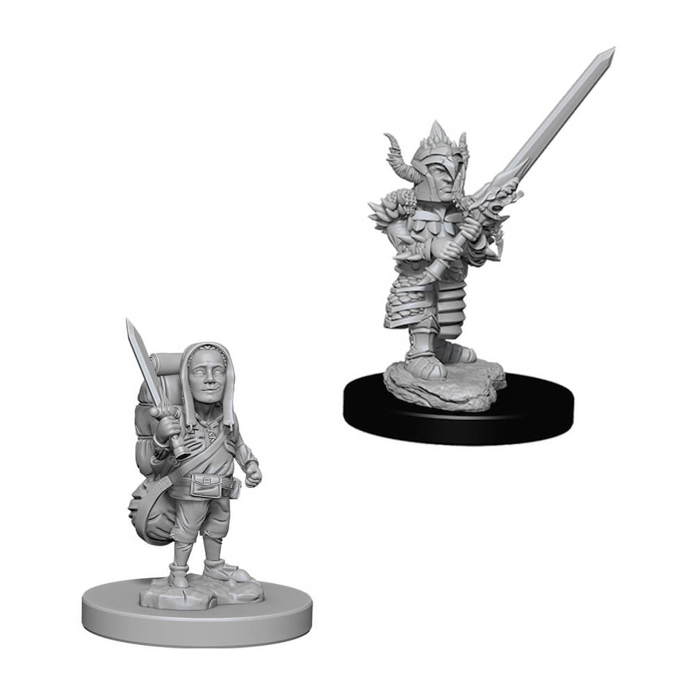 D&D Minis - Halfling Male Fighter - Imaginary Adventures