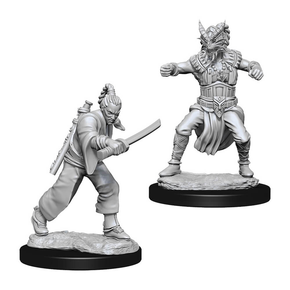 D&D Minis - Human Male Monk - Imaginary Adventures
