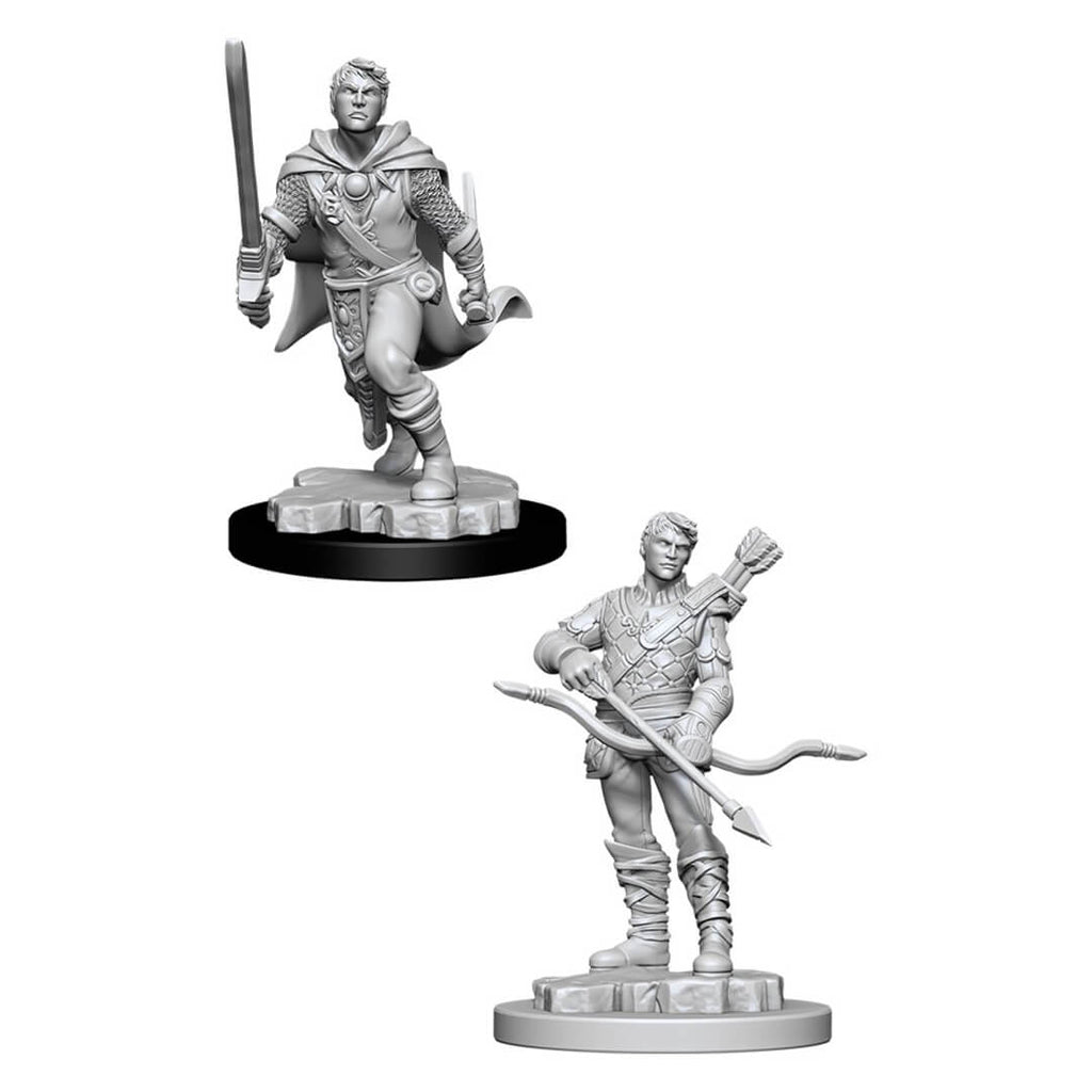 D&D Minis - Human Male Ranger with Sword