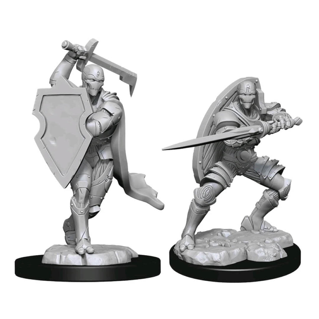 D&D Minis - Warforged Male Fighter
