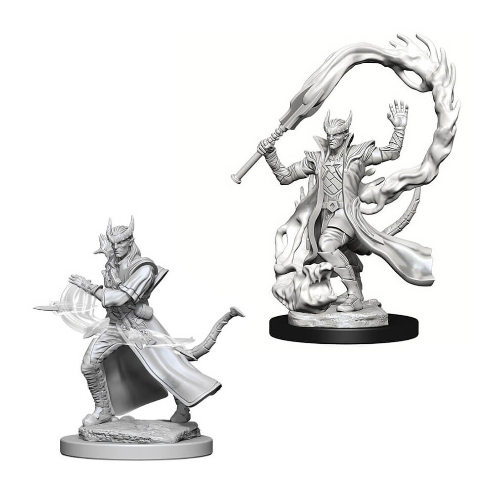 D&D Minis - Tiefling Male Sorcerer - Imaginary Adventures