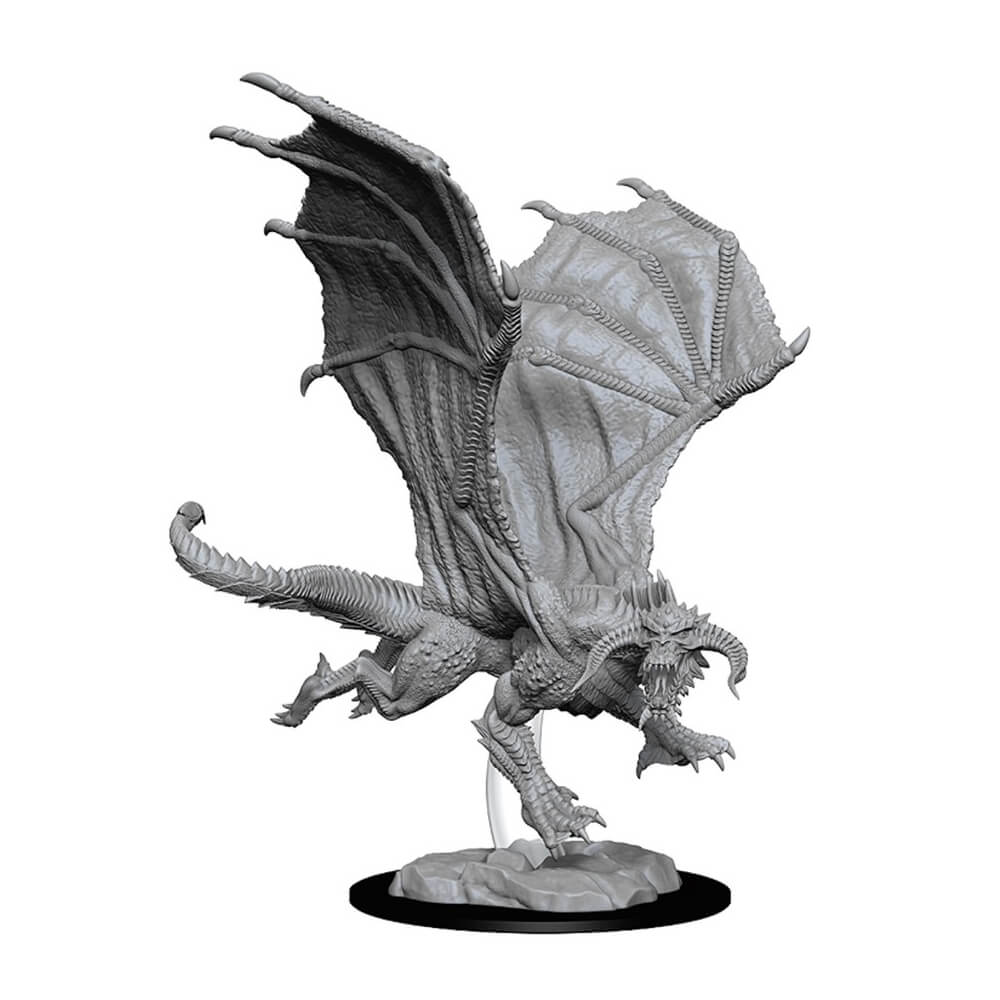 D&D Minis - Young Black Dragon - Imaginary Adventures