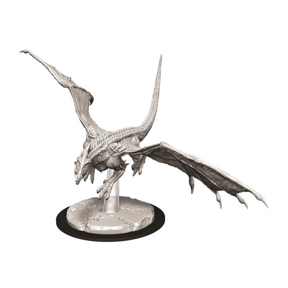 D&D Minis - Young White Dragon - Imaginary Adventures