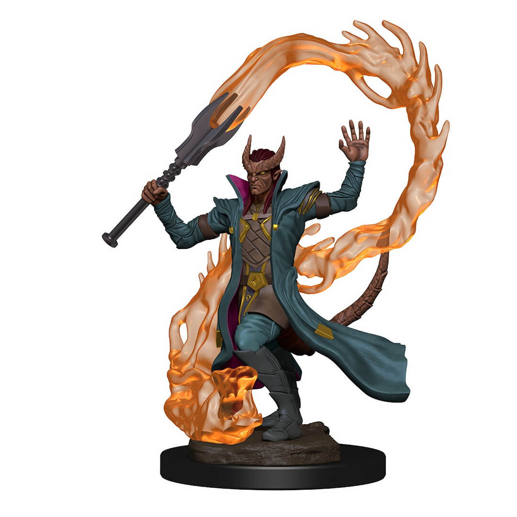 Dungeons & Dragons Premium Pre-painted Minis - Tiefling Male Sorcerer - Imaginary Adventures