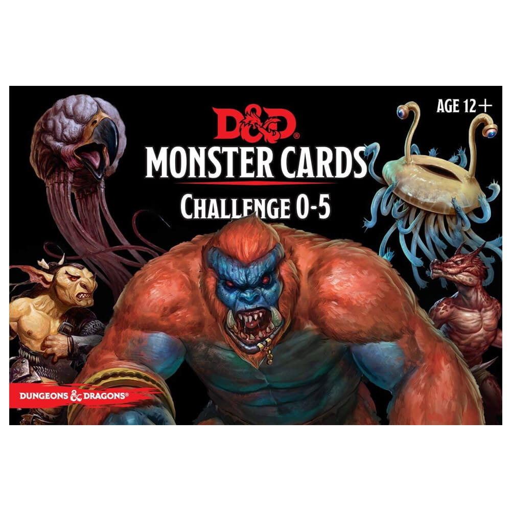 D&D Monster Cards Challenge 0-5 - Imaginary Adventures